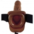 Fetish Fantasy Series 9 Inch Vibrating Hollow Strap On Brown